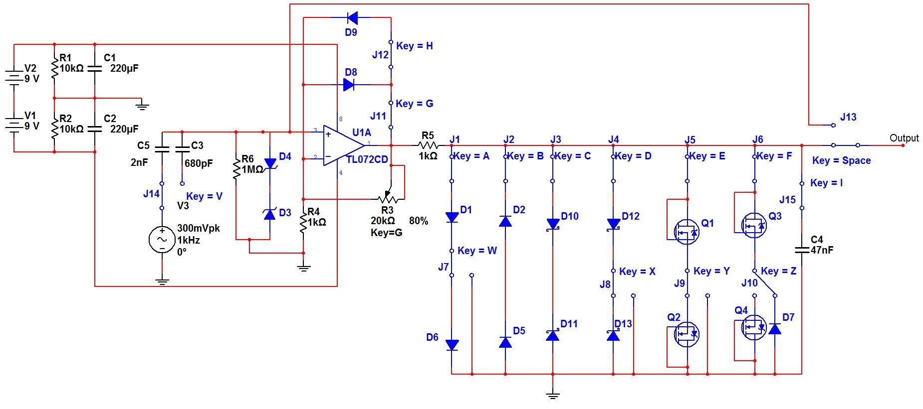 circuit diagram of clipper and clamper two pole gfci breaker wiring proco rat schematic overdrive elsavadorla