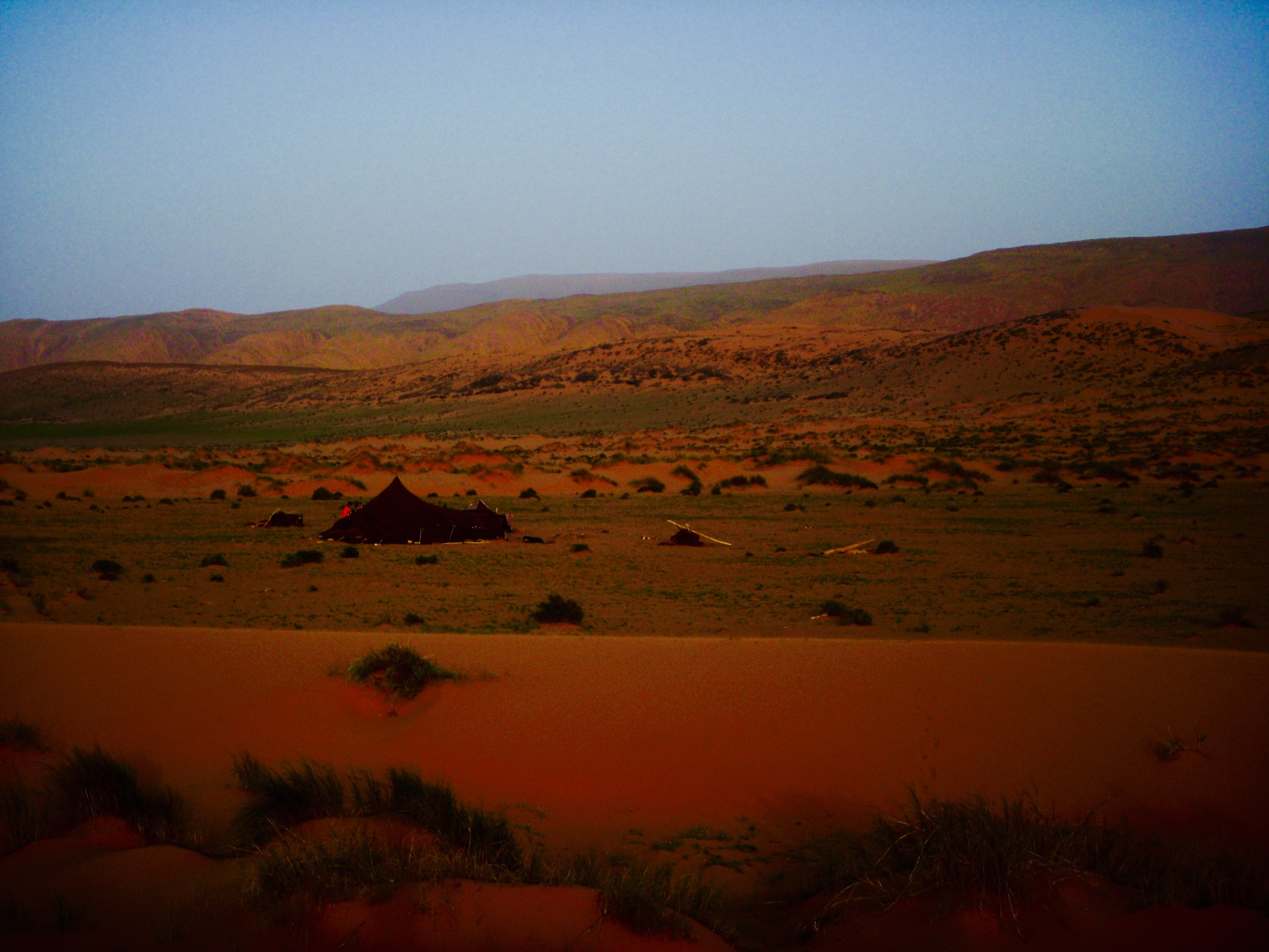 Camp in Southern Morocco: Just Beyond Guelmim and Fask
