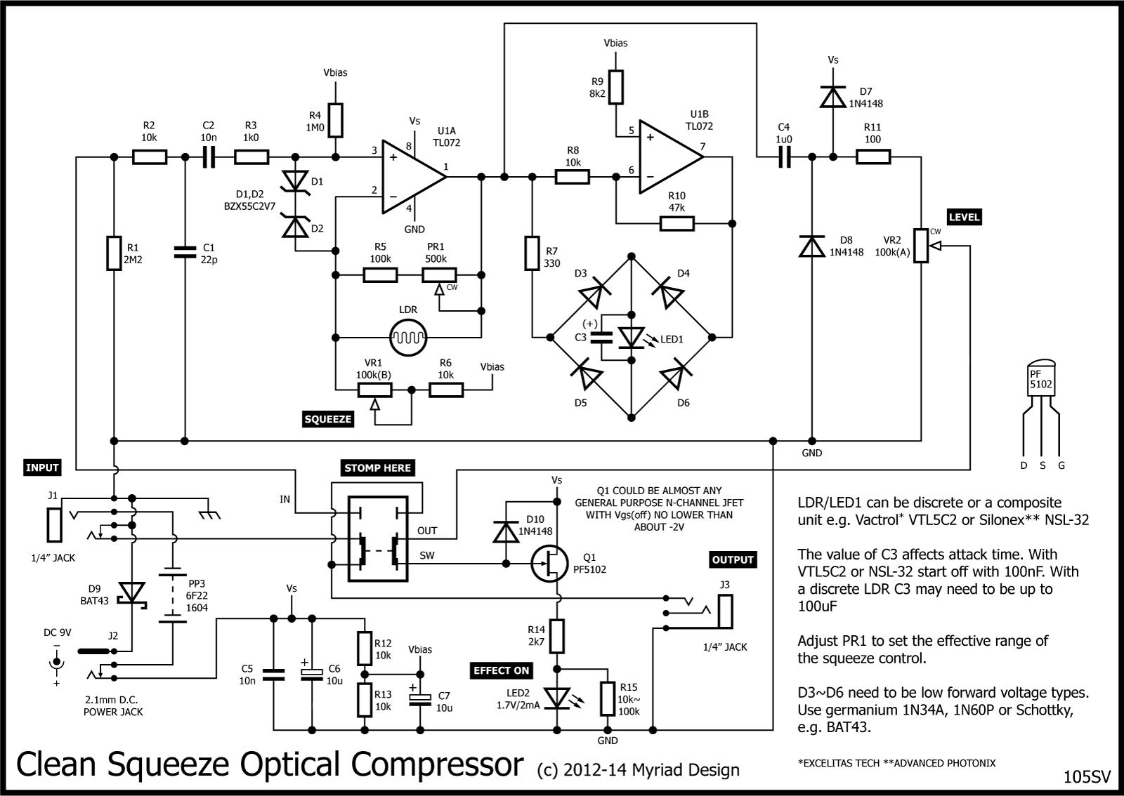 Clean Squeeze Hollis Flatline Opto Compressor Stompville