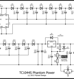 here s the schematic 127sv p48 phantom power from 9v  [ 1600 x 1041 Pixel ]