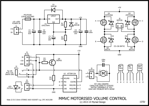 small resolution of h bridge motorised volume control stompville rh stompville co uk speaker rheostat wiring diagram guitar wiring diagrams