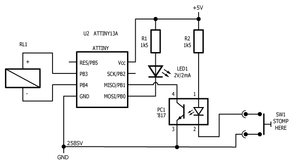 Remote control for True Bypass Relay Board