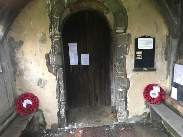 wreaths outside stondon massey church