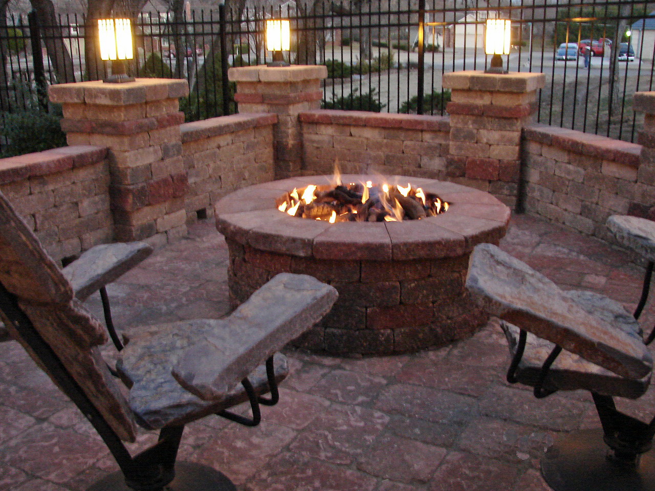 Chairs Around Fire Pit Fire Pit Furniture Stone2furniture Outdoor Furniture