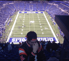 Nick dealing with a heart breaking loss by his Bengals