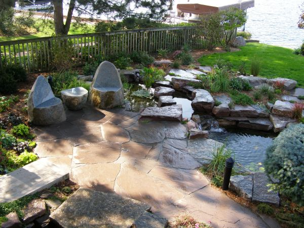 natural stone patios and walkways