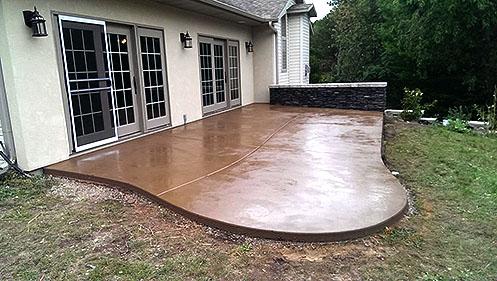 concrete patio denver stone and