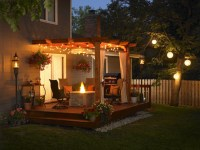 7 Backyard Party Lighting Options - Stone and Patio ...