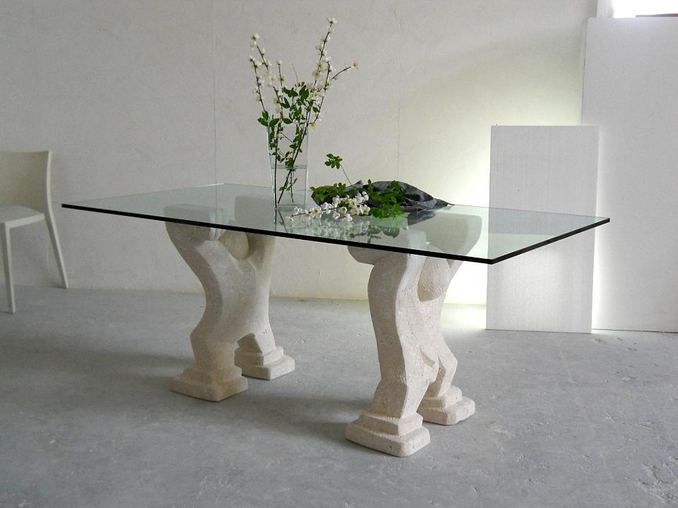 Omini tavolo moderno da pranzo in cristallo  STONEBREAKERS
