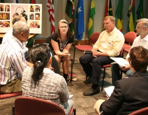 Sharing stories at Peace Corps headquarters
