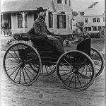 Charles E. Duryea invents the first American car for public streets