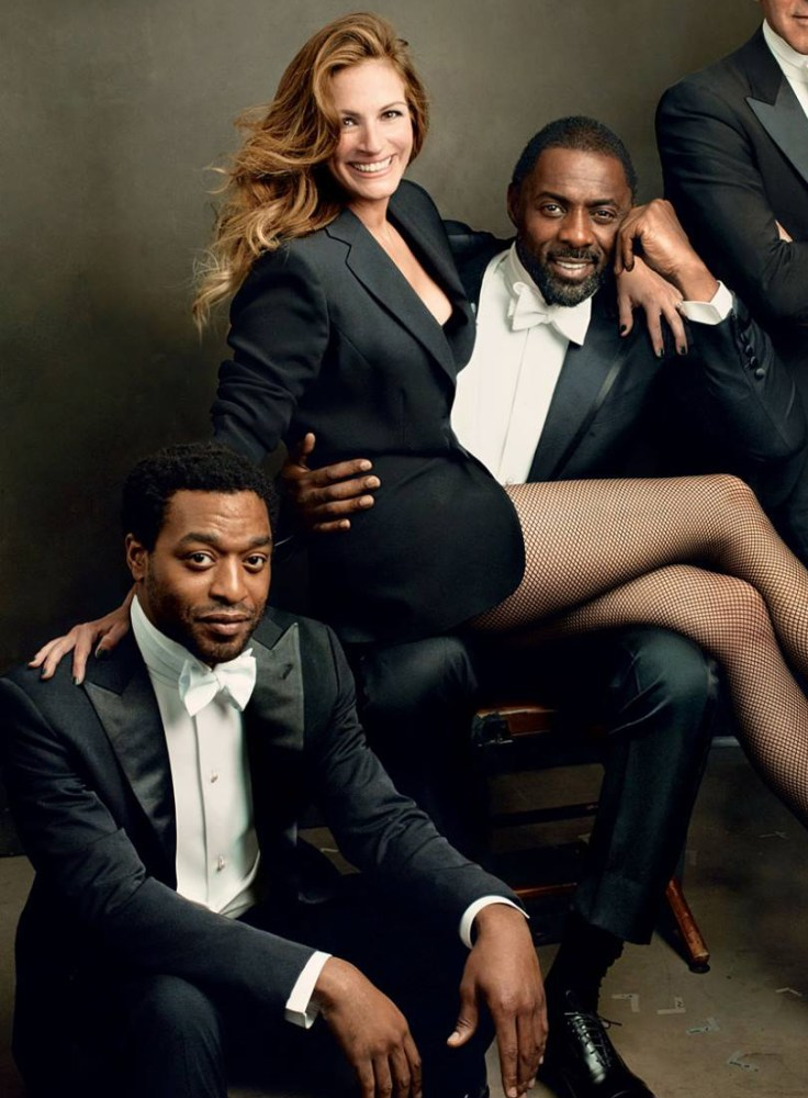 Actress Julia Roberts and Two Handsome Black Men (2/2)