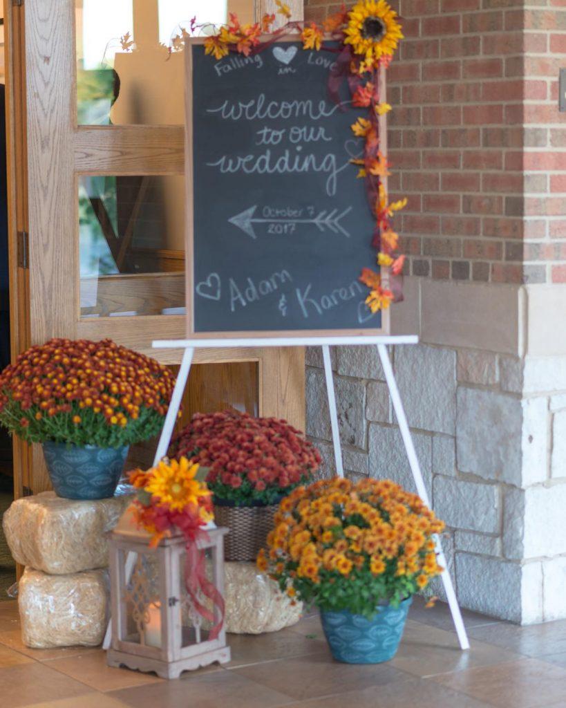 Autumn Reception Decorations