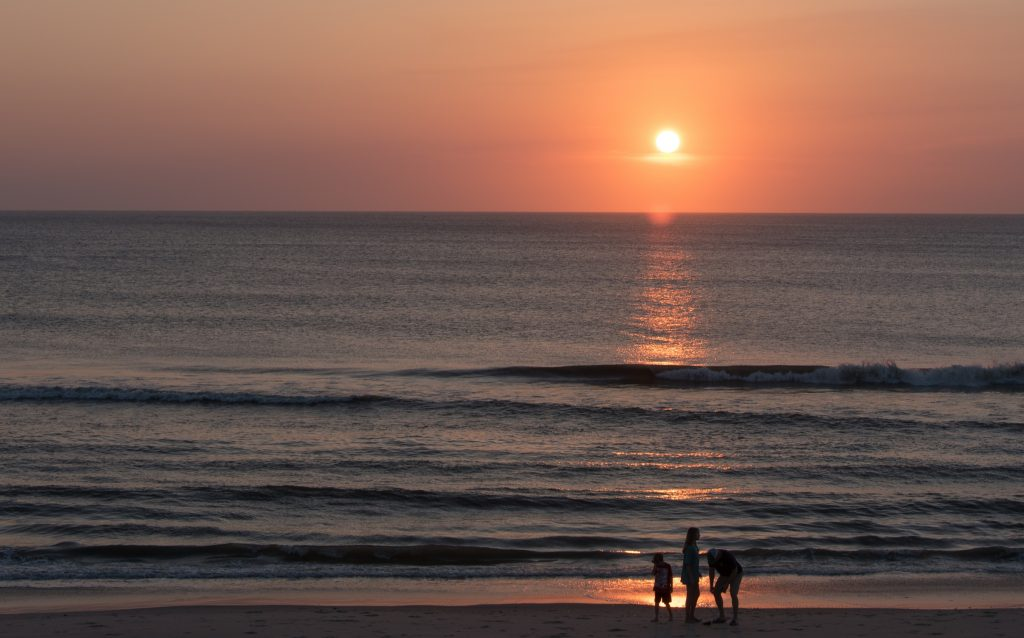 Sunrise On The Beach In The Outer Banks