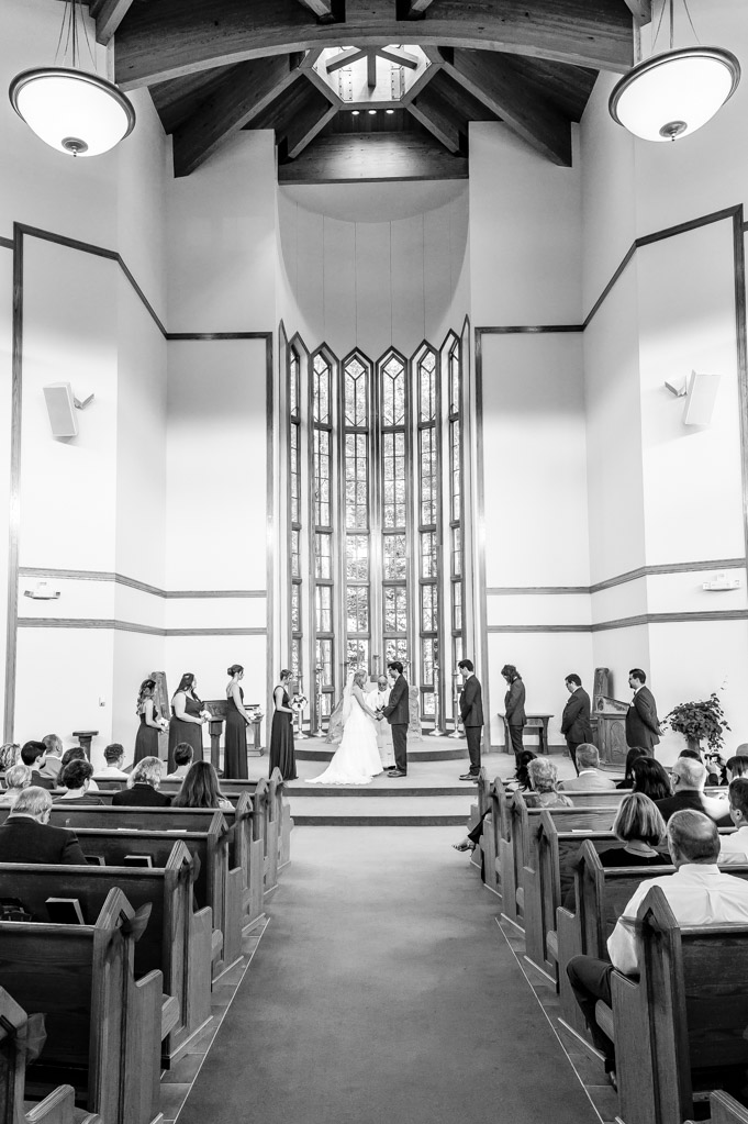 Bride And Groom At Oak Arbor Church, Rochester, MI