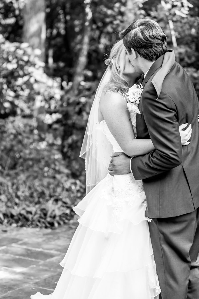 Bride And Groom Kiss During First Look