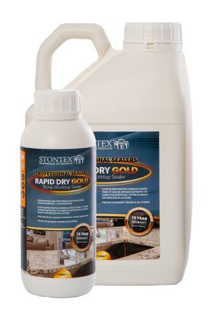 Image of Stontex Rapid Dry Gold premium invisible sealer for natural stone
