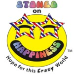 Stoned On Happiness Sticker- Bumper Sticker