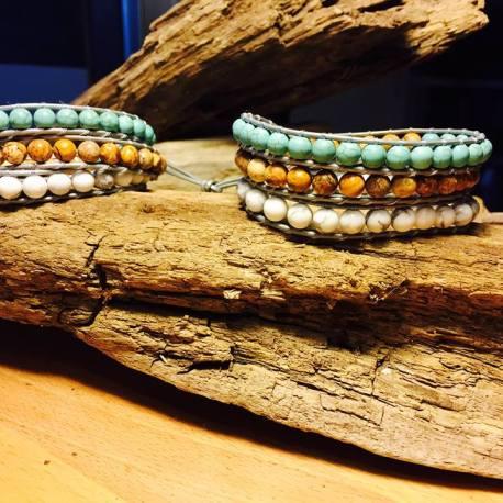 custom order stone era, manon tremblay ottawa, Jasper, turquoise
