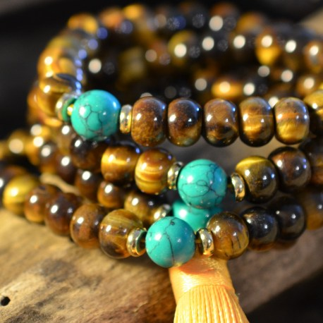 manon-tremblay-natural-stone-tiger-eye-mala-with-turquoise-108-beads-bracelet-necklace-tassel