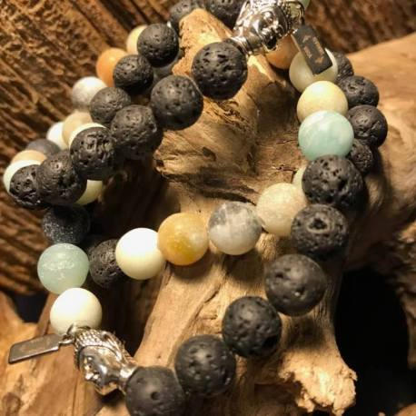 lave amazonite natural stone bracelet manon tremblay ottawa handmade stone era