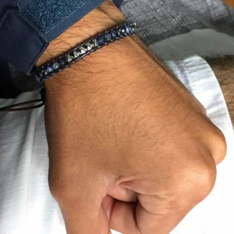stone era freedom ottawa manon tremblay handmade natural stone bracelet, onyx and sodalite for him for men