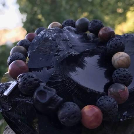 red jasper and lava manon tremblay ottawa natural stone bracelet