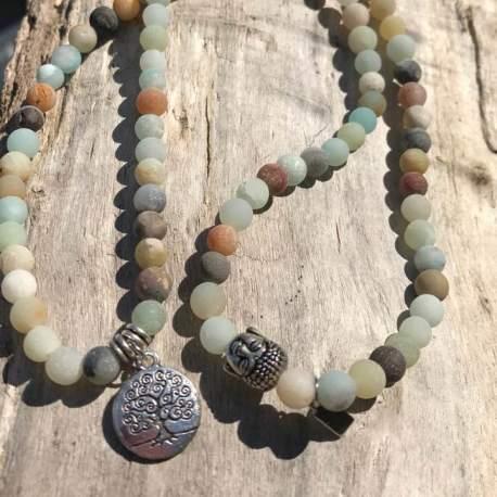 Stone Era natural stone bracelet amazonite with tree of life for her manon tremblay ottawa