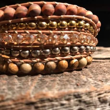 Stone Era devine bracelet AGATE, CRYSTAL, JASPER manon tremblay ottawa