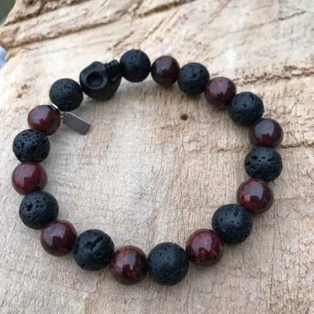 stone era bracelet manon tremblay handmade ottawa lava hematite skull