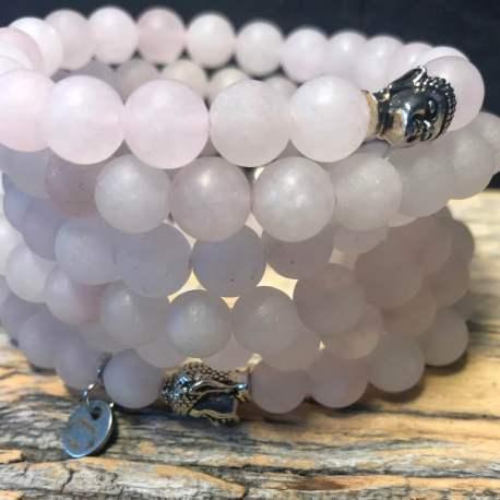 Rose Quartz matte for her stone era natural stone bracelet ottawa