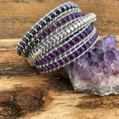 amethyst hematite crystal handmade stone era handmade ottawa gatineau hand model