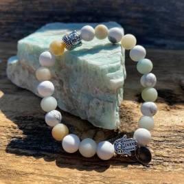 Amazonite and white turquoise