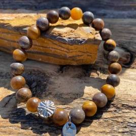 Matte bronzite and Tiger for him