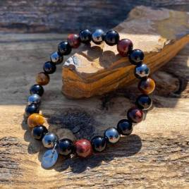 Onyx – Red Tiger – Yellow Tiger and Hematite (For Him)