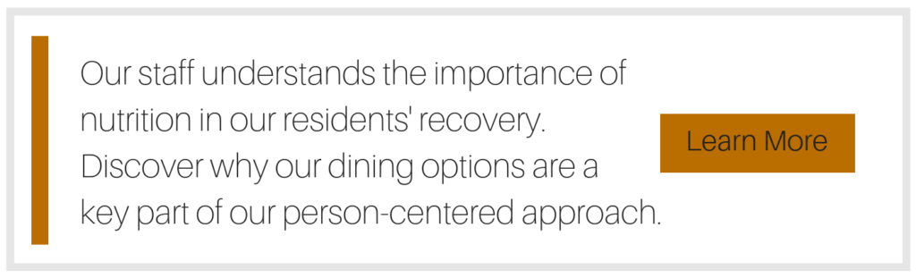 person-centered approach, dining options