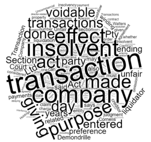 insolvent transactions corporations act voidable in Queensland