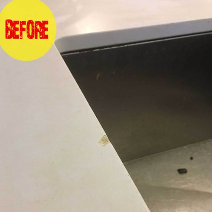 before caesarstone chip repair kit bunnings