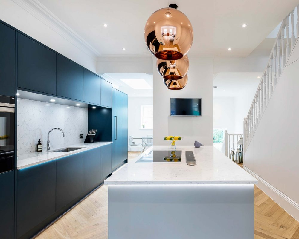 Colour Focus Blue Kitchens Stoneham Kitchens