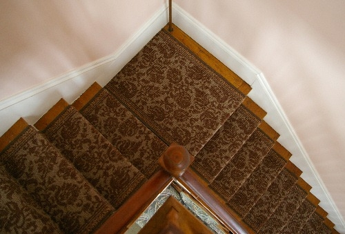 Replacing A Stair Runner — Stonehaven Life | Hall Stairs Landing Carpet | Colour | Stair Turn | Wood Floor Hallway Str*P | Twist Pile | Runners