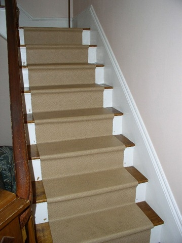 Replacing A Stair Runner — Stonehaven Life   Vinyl And Carpet Stairs   Thin   Indoor   Light   Low Pile   Laminate