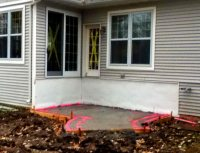 Raised Concrete Porch. Great Stamped Concrete Cost Stamped ...