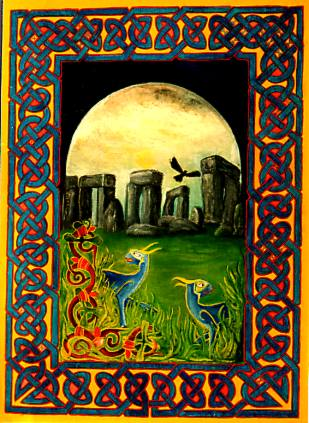 1985 Stonehenge art by Seizmic Richie Bond