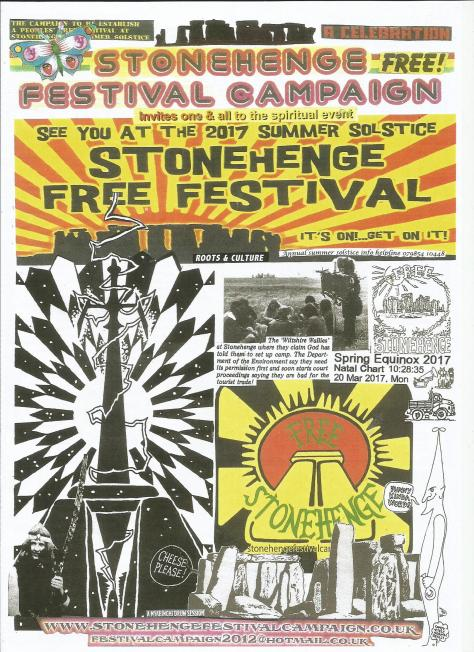 Stonehenge Fesival Campaign Spring 2017 Newsletter front page
