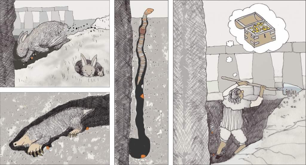 Stonehenge groundworks by Sarah Ewbank