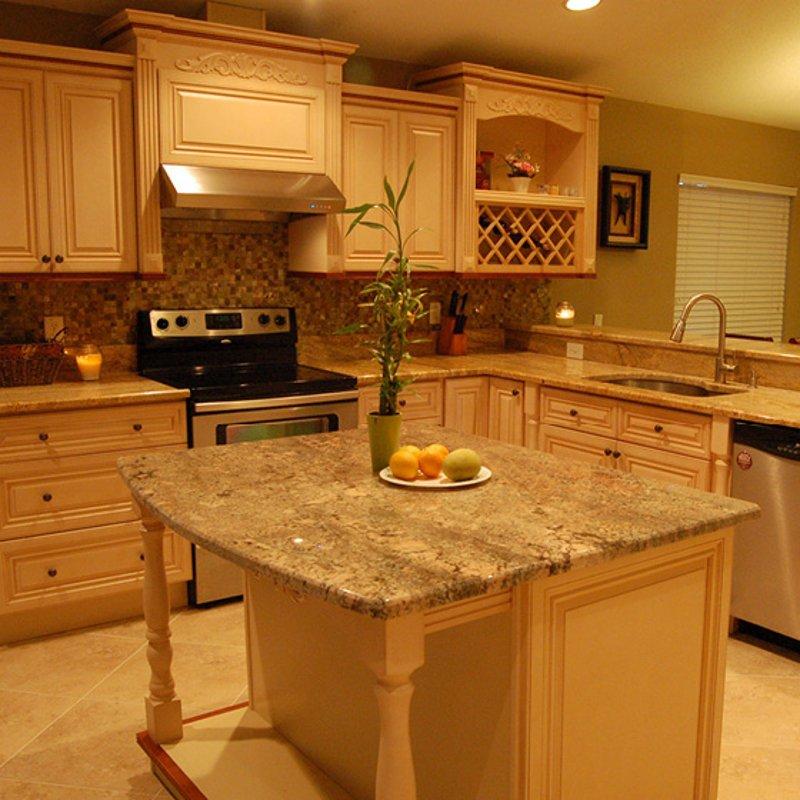 French Vanilla Cabinets  Kitchen Granite and Stone