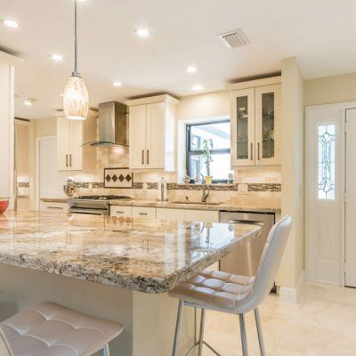 off white kitchen cabinets inexpensive tables classic units gallery