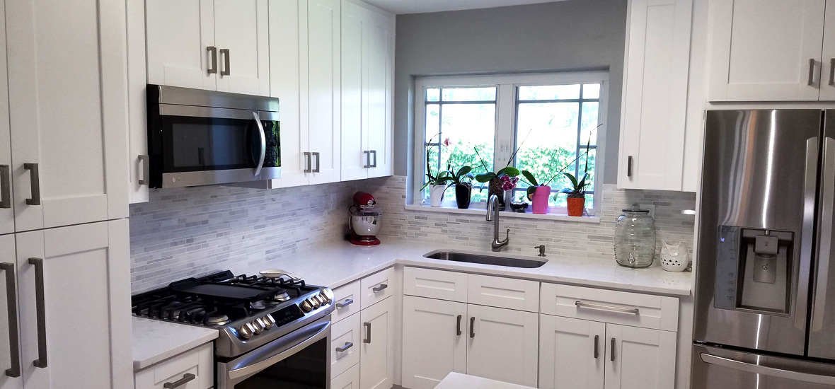 Orlando White Cabinets  Stone International Kitchen