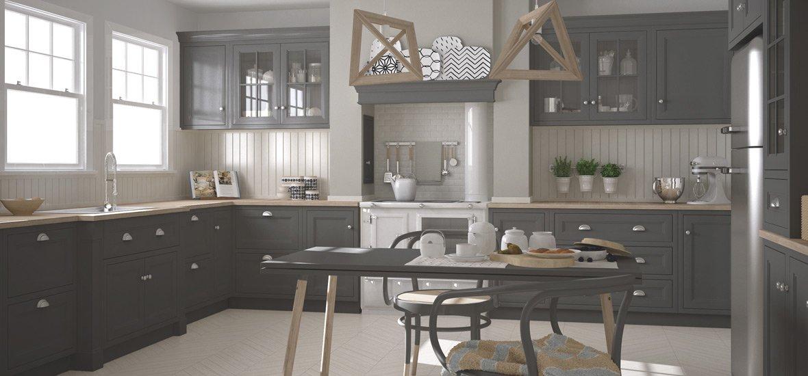 Modern Kitchen White Quartz