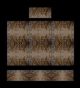 Stonelight Tile San Jose CA Custom Tile  24x36-waterfall-mural: architectural-art-deco-panel-2: